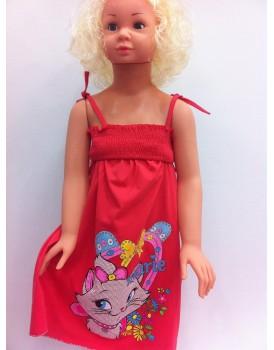 Askılı Kız Çocuk Elbise