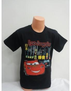 Arabalar Baskılı Siyah Erkek Çocuk T-Shirt
