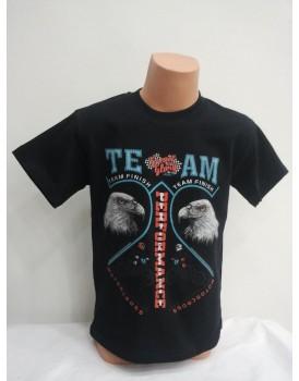 Kartal Baskılı Siyah Erkek Çocuk T-Shirt