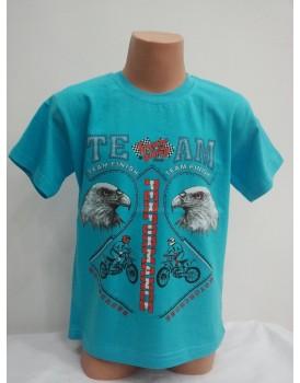 Kartal Baskılı Mavi Erkek Çocuk T-Shirt