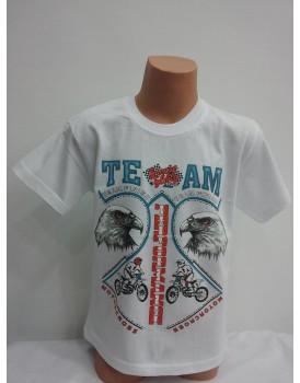 Kartal Baskılı Beyaz Erkek Çocuk T-Shirt