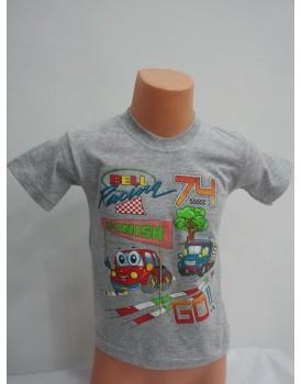 Baskılı Gri Erkek Çocuk T-Shirt