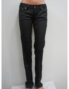 Siyah Saten Kadın Pantolon