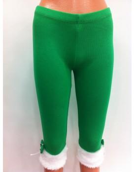 Yeşil Beyaz Kız Çocuk Kadife Tayt