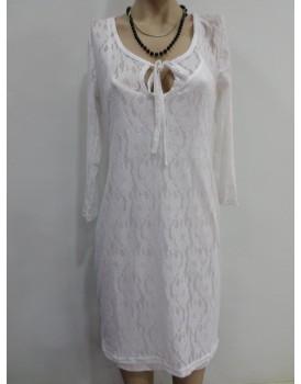 Beyaz Renk Bayan Elbise