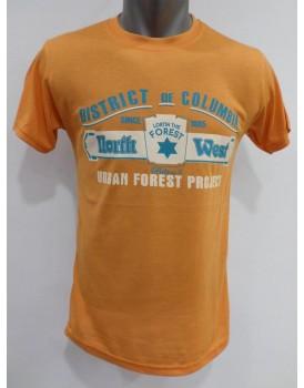 Sarı Baskılı Erkek T-shirt